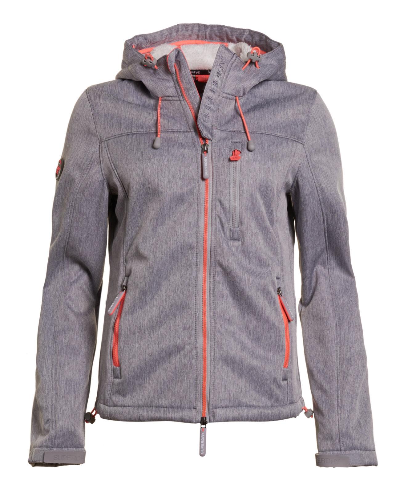 Neue Damen Superdry Hooded Sherpa SD-Windcheater Light Grau Meliert Meliert Meliert | Kostengünstig  | Lassen Sie unsere Produkte in die Welt gehen  | Modern Und Elegant In Der Mode  7096dd