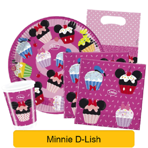 Disney-Minnie-Mouse-D-LISH-Birthday-Party-Range-Tableware-Supplies-Decorations