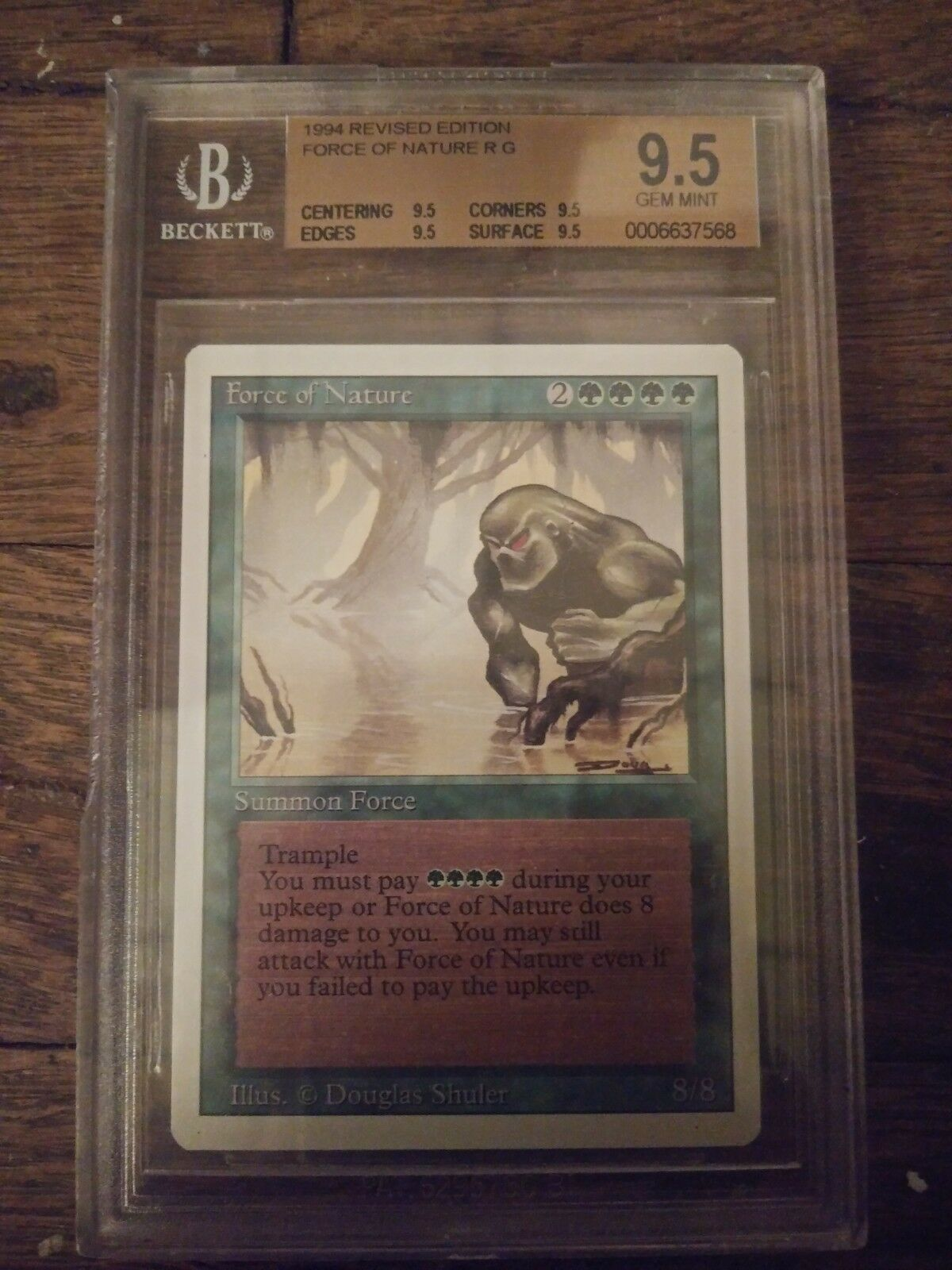 1994 1994 1994 Gem Mint Force Of Nature Mtg Revised 9.5 b34081