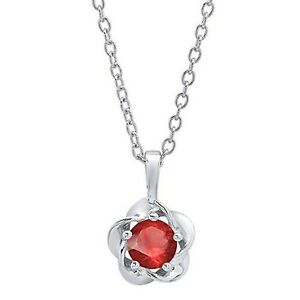 5mm-Brilliant-Solitaire-Ruby-Flower-Pendant-Necklace-14CT-White-Gold-Over-MomDay
