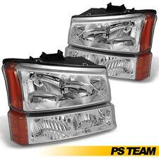 [Chrome] 2003-2006 Chevy Silverado 1500 2500 3500 Head Light+Bumper Signal Lamp