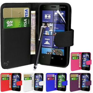 huge discount f235d 218d9 Details about Wallet Case Pouch PU Leather Cover For Nokia Lumia 630, 635  Mobile Phone