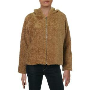 Lola-Womens-Faux-Fur-Zip-Up-Teddy-Coat-BHFO-4167
