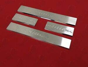 2009-2017-Ford-Fiesta-HB-Mk-VI-6-Cromo-Alfeizar-de-la-puerta-rasguno-rozaduras-Guardia-Acero