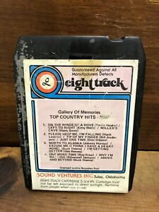 Gallery-Of-Memories-Top-Country-Hits-1960-Various-Artists-8-Track-Cartridge-Tape
