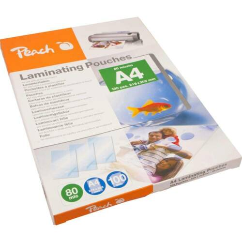 Peach Laminierfolie DIN A4 80 micron glänzend 100 St.