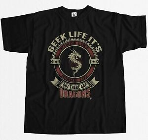 Geek-Life-It-039-s-Like-Real-Life-But-There-Are-Dragons-Mens-T-Shirt