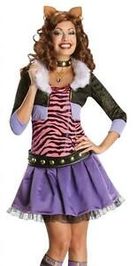 Monster High Kostuem Ebay.Adult Sexy Woman S Clawdeen Wolf Monster High Costume Secret Wishes Ebay