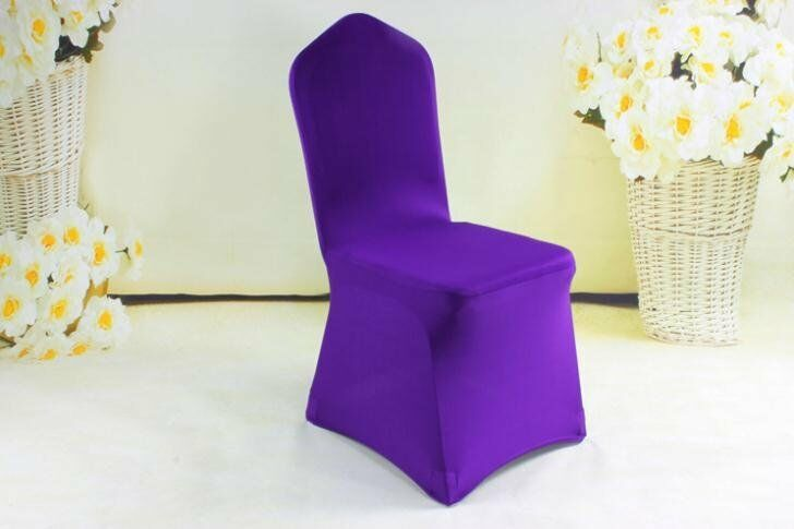 50 spandex chair covers for sale violet flat front