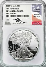 2002-W Proof Silver Eagle PF70 Ultra Cameo NGC Mike Castle