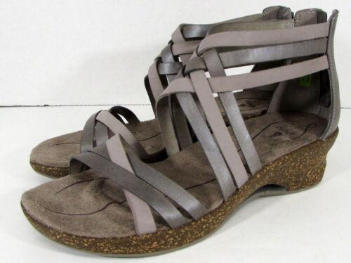 Mesa Taupe $130 Ahnu Womens Trolley Huarache Wedge Sandal Shoes US 9