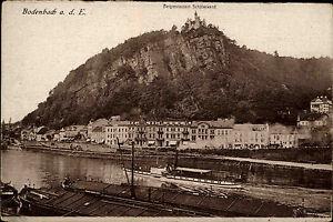 Bodenbach-an-der-Elbe-D-in-Tschechien-alte-s-w-AK-1920-30-Teilansicht-Schiffe