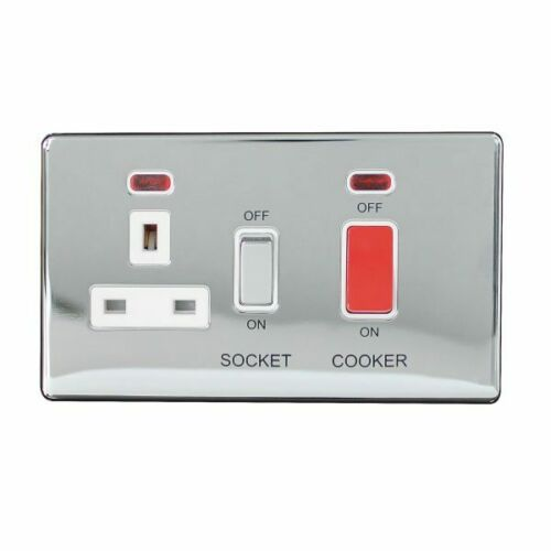 Cooker Control Unit 45Amp Choice of 3 Finishes 9174GB ARLEC Metal Screwless