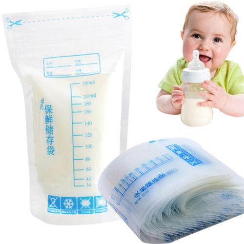 30//60//90//120pcs Pre-Sterilised Breastmilk Baby Breast Milk Storage Bags Pouches