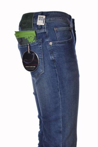 Jeans uomo strappati nero foderati Design slim pantaloni elasticizzati T530