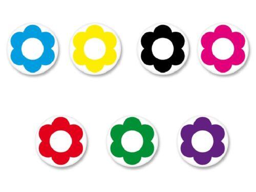 Lot Magnet Aimant Ø38mm Scrapbooking Scrap Multi Couleur colore Fantaisie Fleur