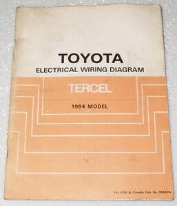 1984 TOYOTA TERCEL Original Electrical Wiring Diagrams ...