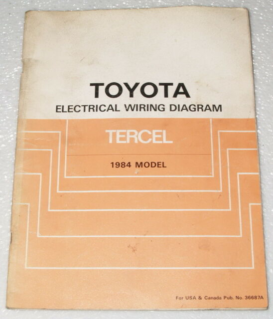 1984 Toyota Tercel Original Electrical Wiring Diagrams Shop Manual Sr5 Dlx Std