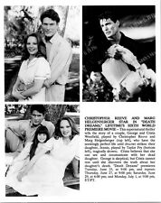 MARG HELGENBERGER, CHRISTOPHER REEVE Terrific ORIGINAL TV Photo DEATH DREAMS