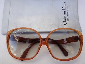 78015ebf09e9a VINTAGE CHRISTIAN DIOR AMBER OPTYL 2098 LIGHT VINYL BROWN LENS 70 S ...