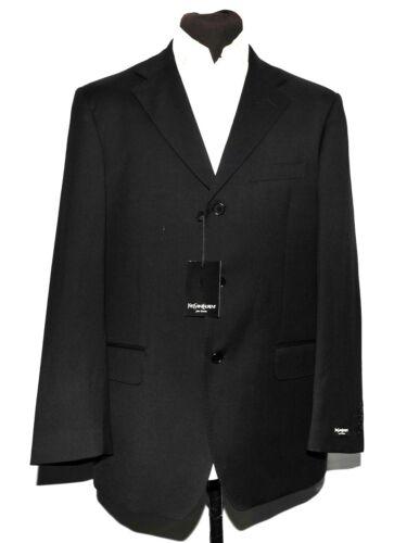 Black In Wool Suit Made 44 Men Italy Yves Short Laurent Saint New UZq1C