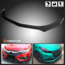 For Universal Glossy Black Front Bumper Lip Spoiler Splitter Body Kit 3pc Fits Toyota Yaris Ia