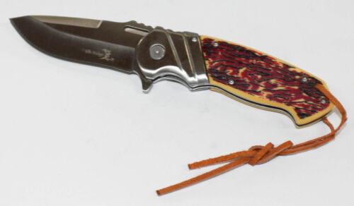 Elk Ridge ER-A003 Taschenmesser Knochen Style Griff 8,89 cm Messer Klappmesser