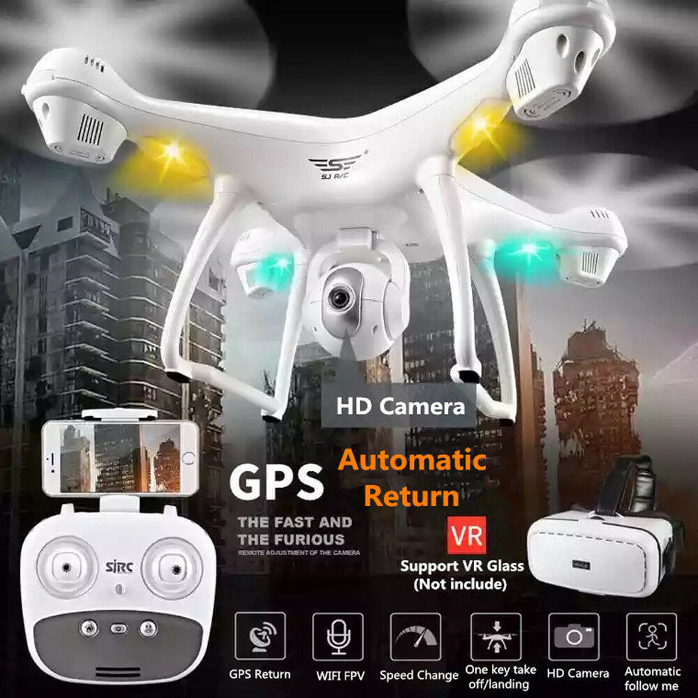 S70W 2.4GHz GPS FPV Drone Quadcopter with 1080P HD teletelecamera  Wifi Headless Mode nuovo  più economico