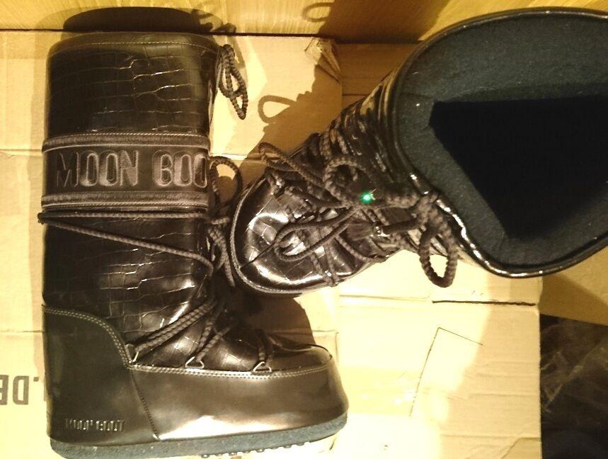 Schneestiefel Moon Boots Tecnica 42 44 Crocodile braun warm extra warm NEUw WOW