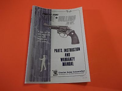 1976 CHARTER ARMS POLICE BULLDOG 38 SPL MANUAL PARTS BOOK 5 Pages Useful Info EBay