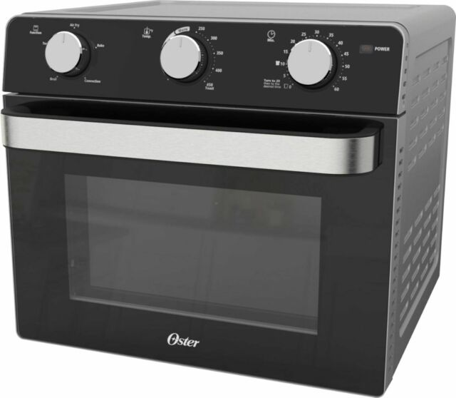 Oster - Air Fryer Toaster Oven - Black
