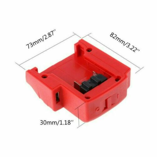 USB Charger Adapter DC 12V 2.1A for Milwaukee 49-24-2371 M18 Battery 14.4-21V