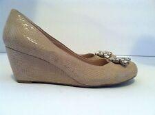 Women's BCBG Treese Beige Wedge Shoes Size 5 M /35