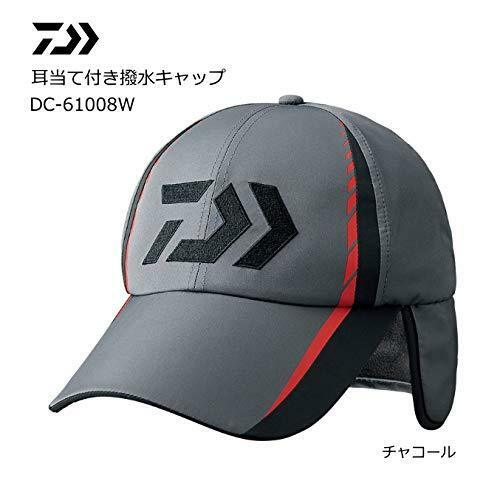 DAIWA DC-61008W Fishing Water Repellent Cap with Earpieces Charcoal Japan NEW