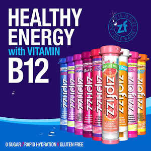 Details about Zipfizz Healthy Energy Drink with B-12 - 30 Tubes - PICK  FLAVOR - NEW