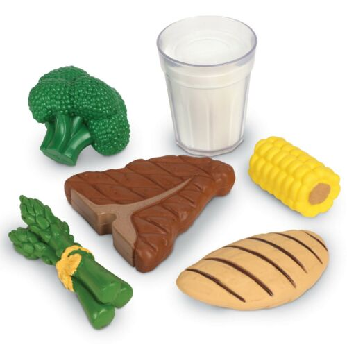 18 Pieces Pretend Play Food Learning Resources New Sprouts Dinner Foods Basket
