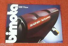 Bimota 500 Vdue Prospekt / Katalog / brochure / catalog -RARITÄT-