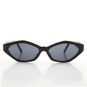 ddbd6ee7d9 Image is loading 90s-Angular-Mod-Black-Cat-Eye-Sunglass-Elsie