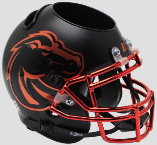BOISE STATE BRONCOS Football Helmet OFFICE PEN//PENCIL//BUSINESS CARD HOLDER