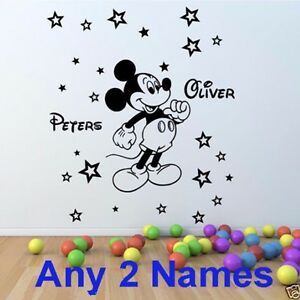 STARS wall sticker Personalised any NAME boys girls room vinyl AFC4 DECAL DECOR