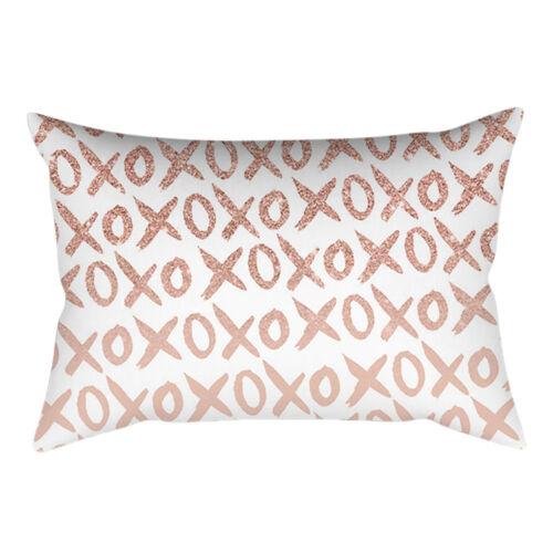 Rose Gold Pink Cushion Cover Square Pillowcase Home Decoration 30cm X 50cm L