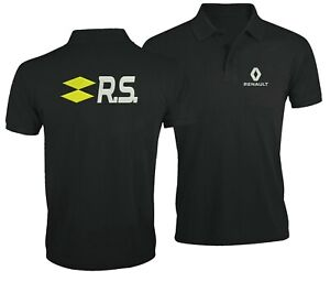 Renault-RS-Auto-Ventilateur-Club-Sport-Voiture-Brode-Homme-Chemise-polo-Tops