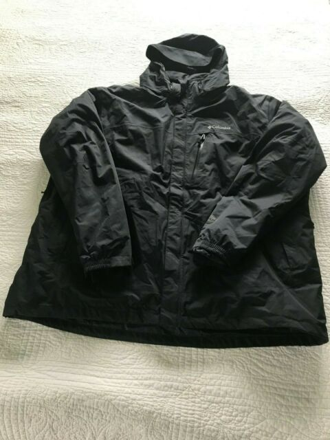 Mens XXL Columbia SUMMIT LIFT INTERCHANGE 3 IN 1 WITH REMOVABLE FLEECE JACKET