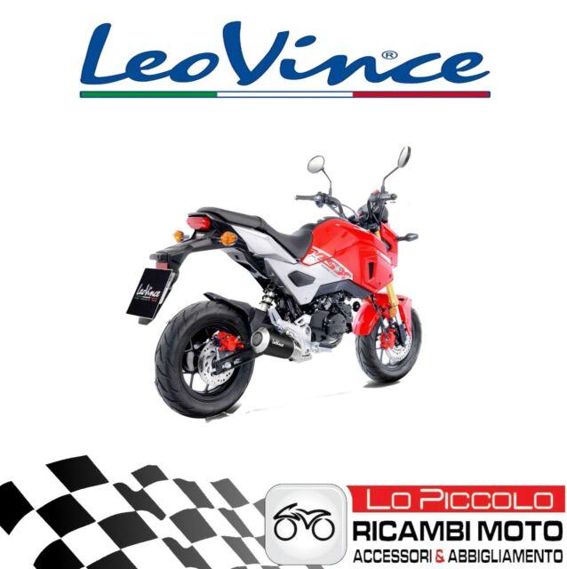 Tubo de Escape LeoVince LV-10 Black Edición Honda 125 Msx 2018 Grom Racing