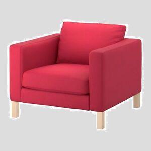 Image Is Loading Ikea Karlstad Sivik 034 Pink Red Armchair