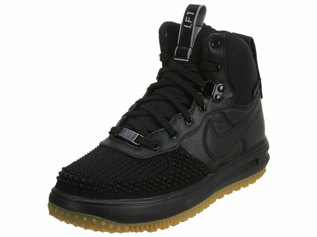 Nike Mens Lunar Force 1 Duckboot BlackBlack Metalic Silver Size 6 805899 003