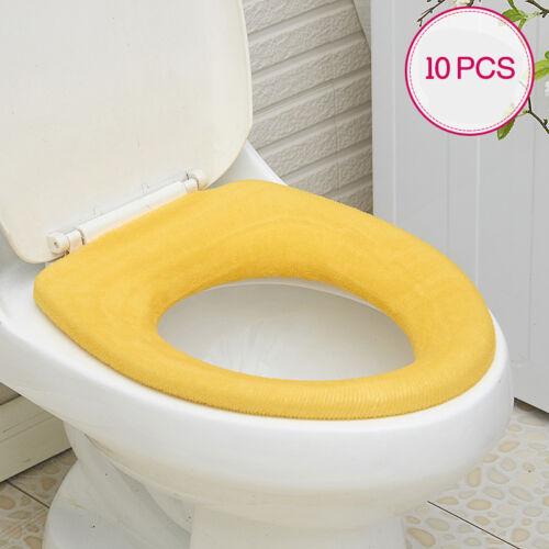 10pcs//Lot Toilet Sets Seat Lid Cover Durable Bathroom Closestool Pad Reusable FS