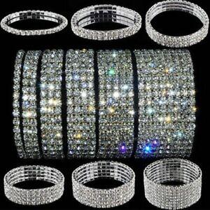 Fashion-Crystal-Rhinestone-Stretch-Bracelet-Bangle-Wristband-Wedding-Bridal-Gift
