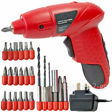 Mini Rechargeable Cordless Electric Screwdriver Drill Power Tool Charger + Bits