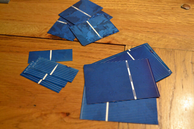 Bare Polycrystalline Solar Solette Cells for DIY Panel -choose size & Q you need